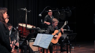Karin De Fleyt, flute / Wouter Aerts, bass clarinet / Nico Couck, guitar / Gerrit Nulens, percussion