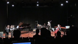 Karin De Fleyt, flute / Lena Lamela, clarinet / Paulo de Assis, piano / Nico Couck, guitar / Marc Tooten, viola / Stijn Saveniers, cello / Geert Callaert, piano